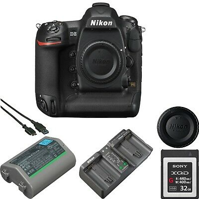 Nikon D5 DSLR Digital Camera (Body Only, Dual XQD Slots) W/ XQD Memory Card