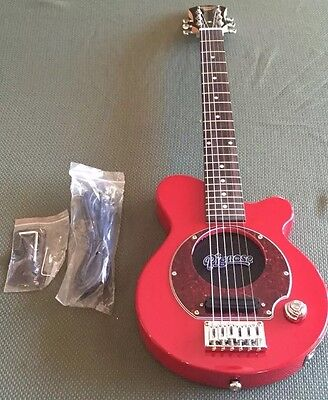 NEW Pignose RED PGG-200 Mini Electric Travel Guitar w/Built-In Amp, Amplifier