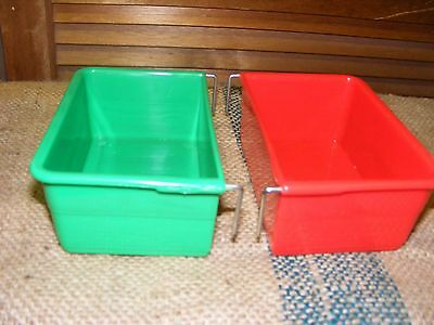 rectangle bird feeder water tray  bird cage seed food parrot poultry Choose size