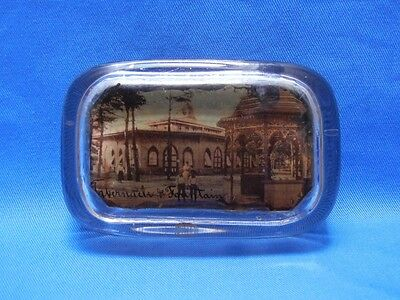 Vintage Tabernacle Fountain Glass Souvenir Paperweight