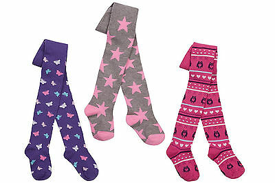Girls Patterned Tights Assorted Designs