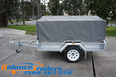7X4 BOX TRAILER CAGE CANVAS COVER TARP 600mm 2 FOOT