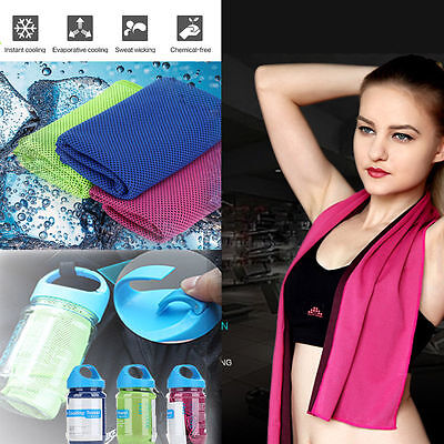 Chilly Pad Sports Cooling Towel Enduring Running Jogging Gym Instant Ice Cold AU