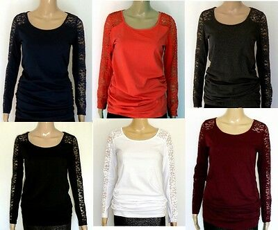 New Ambiance Maternity Top T-Shirt Black White Bordo Red Blue Gray Size:S M L XL
