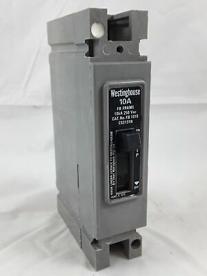 Westinghouse HFB1010 Thermal Magnetic Circuit Breaker 10A 10kA 250VAC 1 Pole