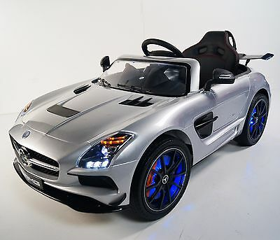 MERCEDES SLS For Kids Model SX128 (Sport) Ride On Car W/Control Parents Silver