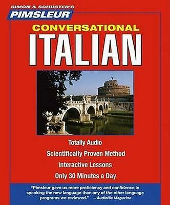 NEW Conversational Italian By Pimsleur Audio CD Free Shipping