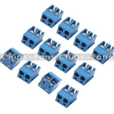 10/50PCS 5.08mm Pitch Panel KF301-2P KF301-3P Screw Terminal Block PCB Connector