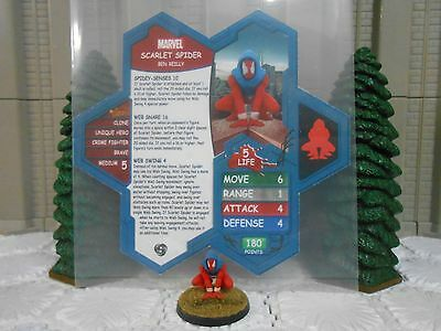 Heroscape Custom Scarlet Spider Double Sided Card & Figure w/ Sleeve Marvel