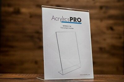 """AcrylicsPro 8.5""""x11"""" Clear Acrylic Display Sign Holder - THICK"""