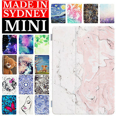 Smart Case Cover and Rubberized Hard Back Cover For Apple iPad mini 1 2 3 4