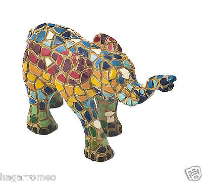 BEAUTIFUL ELEPHANT COLLECTIBLES FIGURINES Colorful Mosaic  HandMade Gaudi style