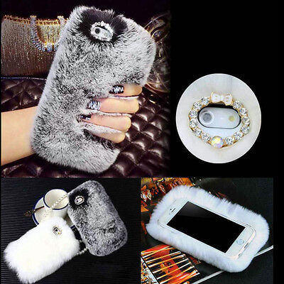 Phone Mobile Back Case Cover Ultra Luxury Warm Soft Comfy REX Fluffy Fur Skin