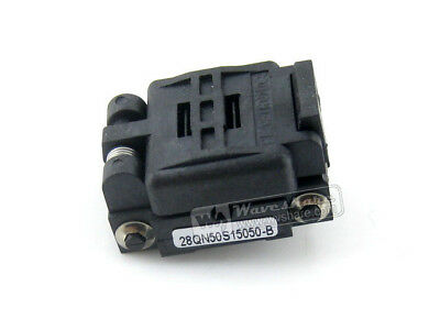 Plastronics 28QN50S15050 IC Test & Burn-in Socket for QFN28 MLP28 MLF28 package