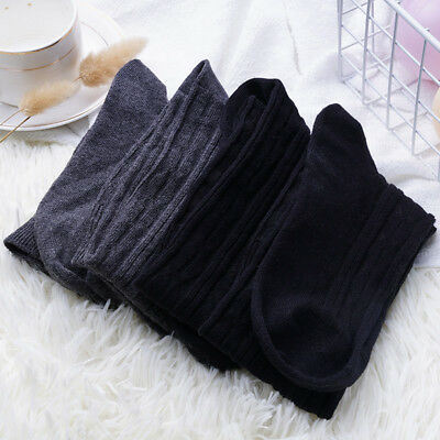 Women Over Knee Wool Knit Long Socks Winter Thigh-Highs Warm Socks Stocking