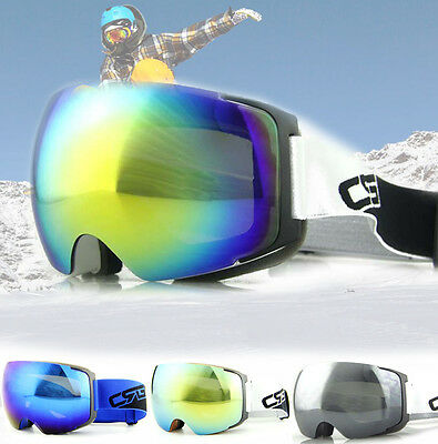 Anti Scratch Outdoor Snowboard Ski Snow Fusion Goggle Dual Lens Glasses Eyewear