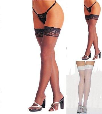 Lace Top Sheer Thigh High Stockings ST-003