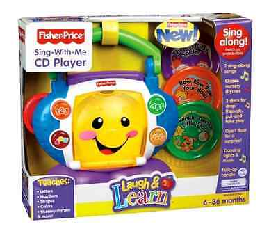 Laugh Learn Sing With Me Fisher Price CD Player Electronic Learning Baby Toys