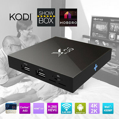X96 4K Quad Core S905X Android 6.0 Fully Loaded TV BOX (SHOWBOX / KODI / MOBDRO)