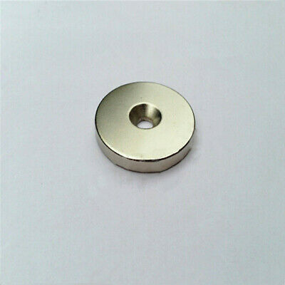 1pcs N40 Super Strong Round Ring Magnets Hole 3/5/6mm Rare Earth Neodymium