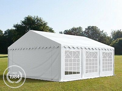 5x6m Heavy Duty PVC Marquee, Bolt Steelconstruction, Wedding Party Tent, white
