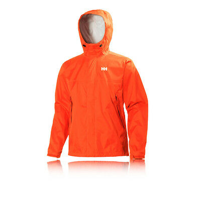 Helly Hansen Loke Mens Orange Waterproof Windproof Hooded Running Jacket Top