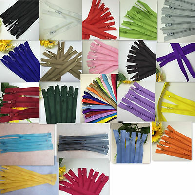 10/50/100pcs Nylon Coil Zippers Tailor Sewer Craft 20 Inch (50cm) Crafter's
