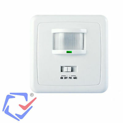 Maclean Wall PIR Motion Detector Light Switch Security Sensor Voice  Activated