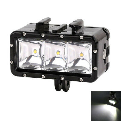 AFUNTA Underwater 30m Waterproof High Power Dimmable LED Video POV Flash Fill Li