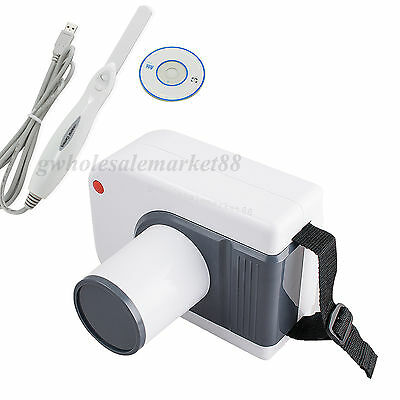 CE FDA wireless handheld digital Dental X-ray Machine unit +free oral camera