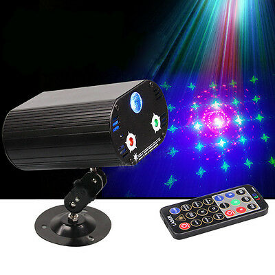 3 Lens 36 Patterns RGB LED Stage Laser Projector Lighting Party DJ Disco Light