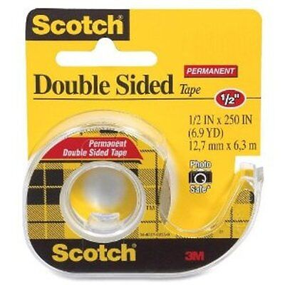 3M Scotch Double-Sided Tape, 1/2 in x 450 in (3 Pack)
