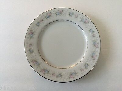 """M Fine China of Japan ROSEMARY 5555 - 6-3/8"""" BREAD PLATE"""