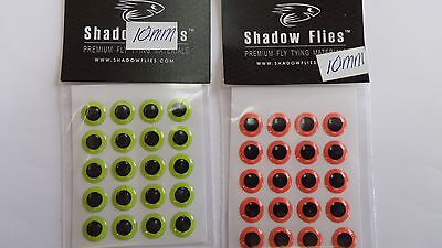 SHADOW 3D HARD EPOXY EYES 10mm(20pcs)each 2pk ass colors FREE SHIPPING worldwide