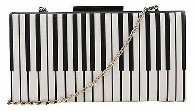 Music Lily Piano Fashion Chic Patter Clutch Small Crossbody Bag Free Delivery UK