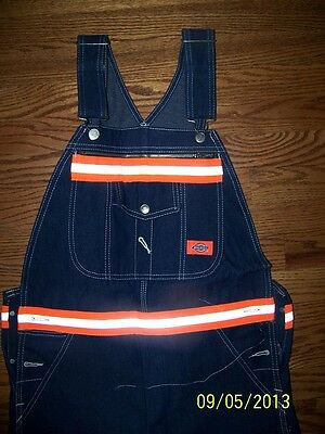 Dickies Bib Overalls With Scotchlite  Reflective Stripes