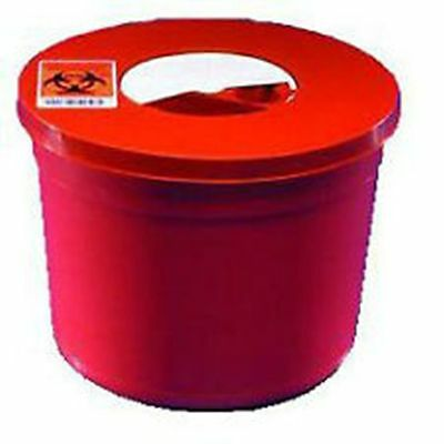 Sharps Container With Lid Round Size: 5 QT (3 Pack)