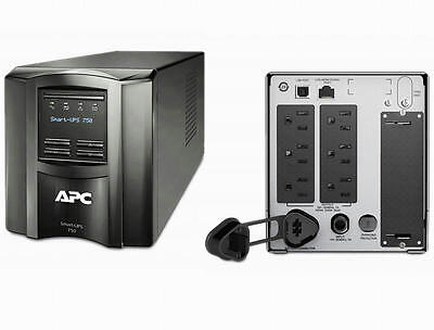 APC SMT750 Smart-UPS Power Battery Backup 750VA 500W 120V LCD New Batteries- REF