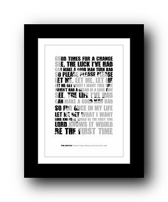 The Smiths ❤ Please, Please, Please Let Me Get Whatsong lyrics poster art  print