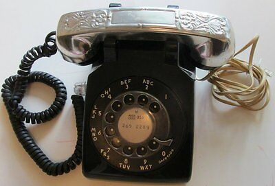Black Vtg Western Electric Rotary Table/Desk phone Hearing Impaired 500DM