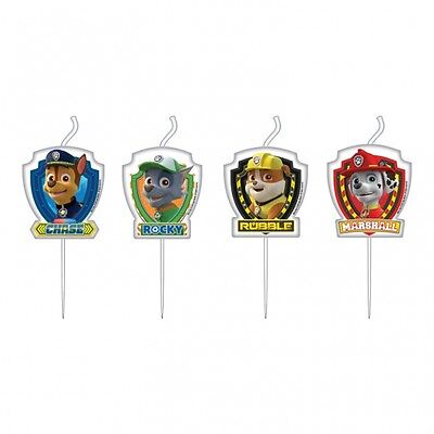 4 Paw Patrol Mini Figure Candles Character Shaped Birthday Party - 999142