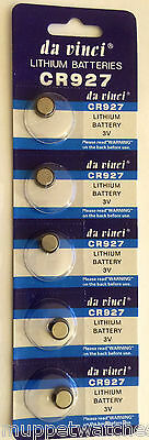 10 x CR927 BATTERY LITHIUM 3v BUTTON COIN CELL BATTERIES Expiry 12/2019