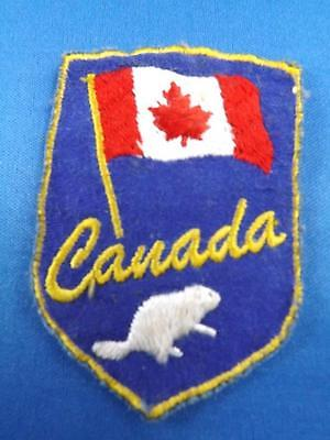 Canada Flag Beaver Vintage  Patch Souvenircollector Cloth Badge