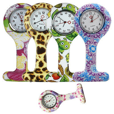 Montre Silicone Infirmier Quartz Pince Epingle Poche WT