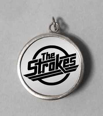 The Strokes Band Engraved Sterling Silver 925 Round Pendant Necklace The Strokes