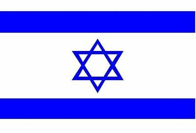 ISRAEL FLAG 150cm x 75cm (4,5' x 2,5' ft) LARGE BRAND NEW