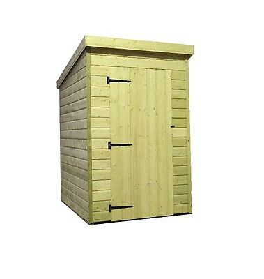 4X3 Garden Shed Shiplap  Pent Roof Tanalised Pressure Treated