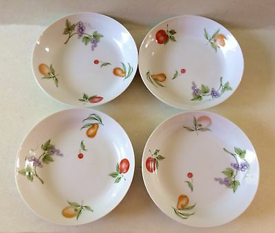 Vintage Porcelain Dinnerware Cereal/Soup Bowls Rhapsody Fruit Cup Japan Set of 4