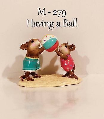 """Wee Forest Folk M-279 Having A Ball Initialed By """"WP"""" With WFF Box """"MINT"""""""