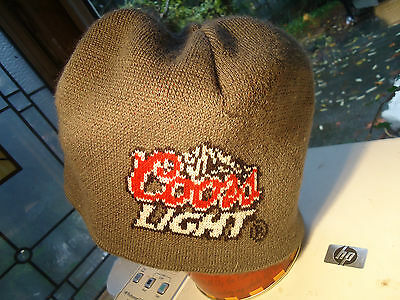 Coors Light Knit Beanie Gray Toque Winter Hat One Size Fits Most
